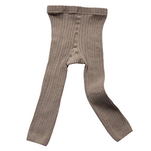 Huhu833 Strumpfhosen Strümpfe Warm Cotton Solide Socken für Babys Kleinkind Kinder (Grau, 1-3T -80-90CM)