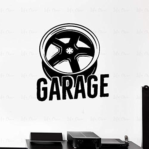 JXMN Etiqueta de la Pared del Garaje Etiqueta de la Pared del Vinilo Servicio de vehículos con Ruedas Etiqueta de la Pared Grande Etiqueta de la Pared Sala de Estar Decoración del hogar 68x75cm