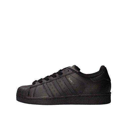 adidas Superstar Foundation, Scarpe da Ginnastica Bambini, Nero (Core Black/Core Black/Core Black), 38 EU