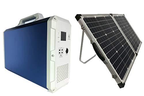 高性能 折り畳みソーラー100w付 業界1番クラスの大容量/出力 ポータブル電源 2400wh AC出力 1000w ソーラーパネル接続 MPPT サポート無料 車中泊/キャンプ/防災に 648648mah 100Wパネル BLUETTI EB150