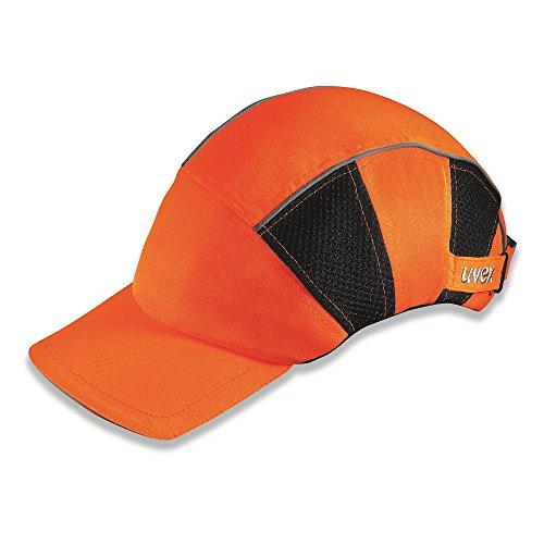 Uvex U-Cap Sport Hi-Viz Anstoßkappe - Langer Schirm - Warnorange - Orange Orange