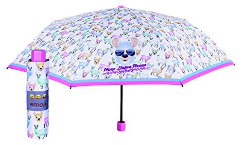 PERLETTI Paraguas Plegable Emoji 90cm, Multicolor (Multicolor 000), One Size (Tamaño del fabricante: Talla del fabricante (Tal Y Como Aparece En La Etiqueta)) Unisex Adulto