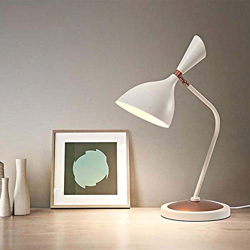 L.W.S Lámpara de Escritorio Lámpara Hardware led Hardware Forjado Hierro Mate Pintura Cuerno lámpara Aprendizaje Escritorio lámpara Estudio Post Moderno Simple Ajustable Mesa de Noche lámpara lámpara