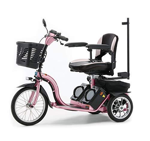 【フランスベッド】ハンドル型電動車いすS637 スマートパルNEW (ピンク)