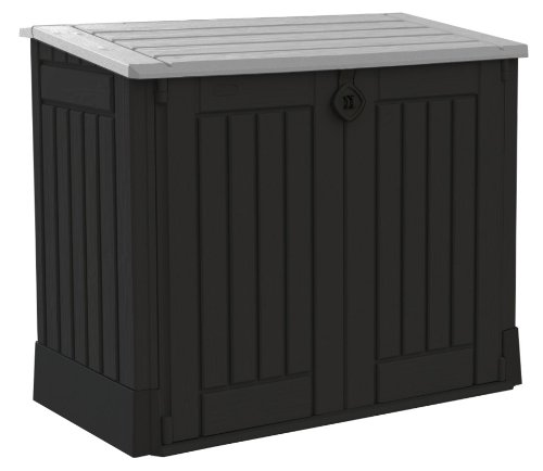 Keter Store It Out Midi Outdoor Plastic Garden Storage Shed, Black and Grey, 130 x 74 x 110 cm