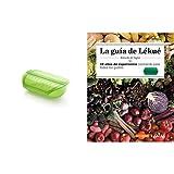 Lékué Estuche de vapor con bandeja, 3-4 personas, 1400 ml, color verde + Libro LA GUIA ESP, Negro, Único
