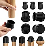 Chair Leg Protectors for Hardwood Floors, 16 Pack Silicone Furniture Leg Feet Cover Caps with Felt,Bottom Slide Protect Wood Floors from Scratches and Noise,Smooth Moving (Small Fit: 0.8' - 1.2')