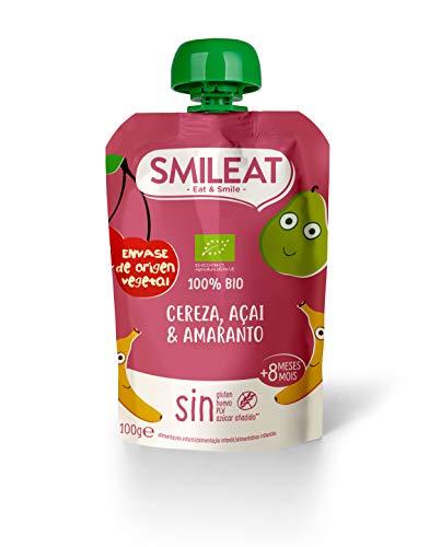 Smileat Smileat Pouch Cereza, Açai Y Amaranto Eco Envase Sostenible 100 ml
