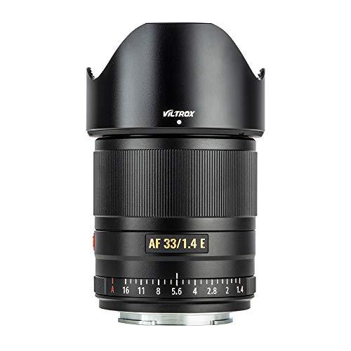 VILTROX 33mm F1.4 STM Eマウントオートフォーカスレンズ 大口径 SONY APS-Cカメラに対応 Eマウント交換レンズ 単焦点レンズ ノイズレスステッピングモーター HDナノ多層コーティング コンパクトな金属ボディ 耐水性 9群10枚 ソニー A6500/A6300/A6000/A7RⅣ/A7RⅢ/A7Ⅲ/A7RⅡ/A7Ⅱ/A7S/A7Rなどに適応