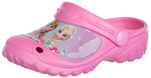Brandsseller Kinder Disney Clogs Frozen - ELSA & Anna - Hausschuhe Gartenschuhe Badeschuhe - Farbe: Rosa - Größe: 30/31