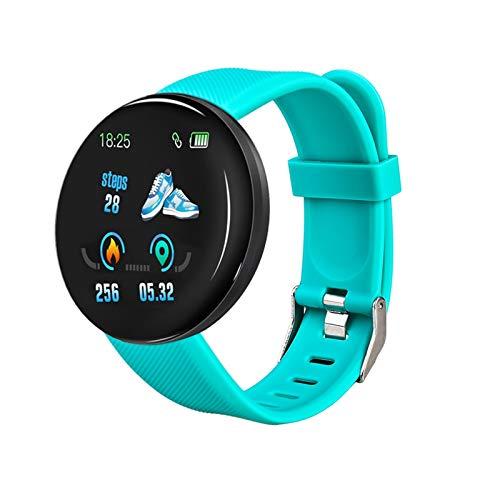 Bluetooth Smart Watch Hombres Mujeres Presión Arterial SmartWatch Sport Tracker Podómetro 116 más Relojes Inteligentes para Android y iOS (Color : Green)