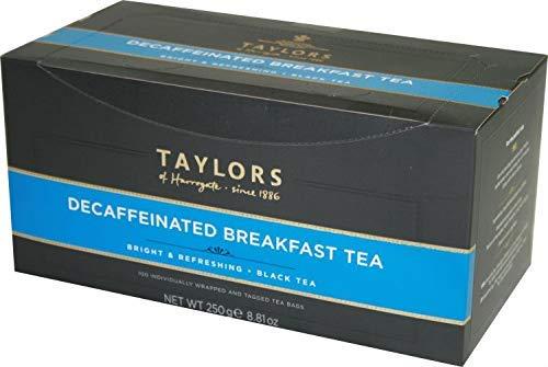 Taylors of Harrogate Desayuno inglés descafeinado con té negro Ho.Re.Ca. - 1 x 100 bolsitas de té envueltas individualmente (250 gramos)