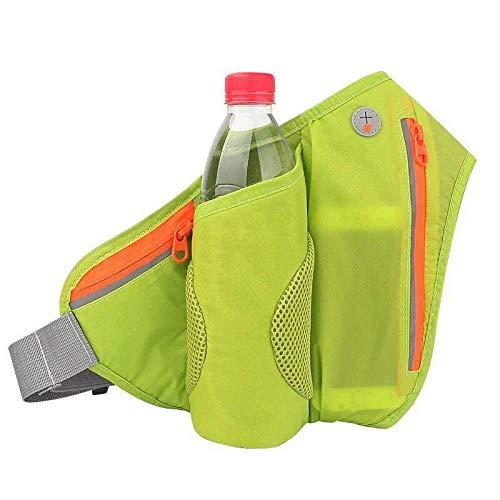 Cinturón De Cinturón para Hombre, Cinturón De Hidratación, Riñonera con Portabidón, Cinturón para Mujer, Cinturón Reflectante, Adecuado para Teléfonos Móviles De 4-6 Pulgadas