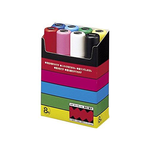 Uni-Ball Uni POSCA PC-17K, 8 PCS evidenziatore Nero, Blu, Verde, Rosa, Rosso, Bianco, Giallo Punta smussata 8 Pezzo(i)