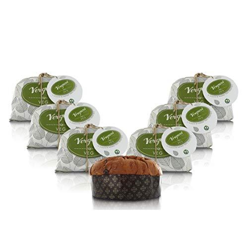 Dolce di Natale Vegano, 100% vegetale, Certificato VeganOK, 750g - Confezione da 6 Pezzi