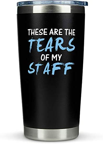 Boss Gifts Tears of My Staff Travel Coffee Mug Tumbler 20oz Funny Idea for Worlds Best Boss product image