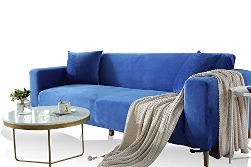 FREEMY Fodera per Divano in Velluto Elastico Universale Adatto a Tutti i divani con braccioli (Il Divano ad Angolo a Forma di L Deve Acquistare Due Fodere per divani)