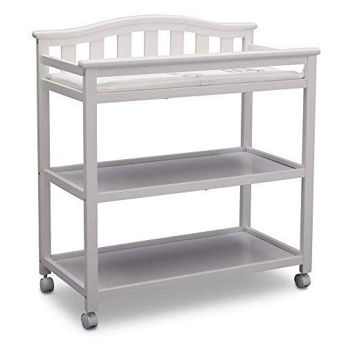 Delta Children Bell Top Changing Table with Casters, White