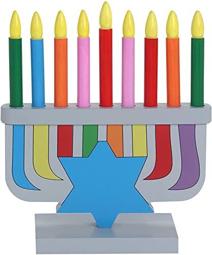 Hanukkah Children's Wooden Chanukah Menorah With Removable Candles