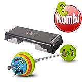 Reebok Step Specification Set d'haltères Longues Gris avec Pompe Prime 16 kg