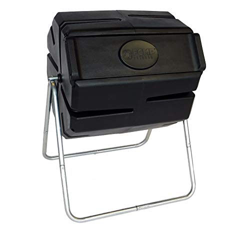 FCMP Outdoor Roto Tumbling Composter, Single, Black