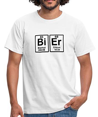 Bier Chemisches Element Periodensystem Lustiges Männer T-Shirt, 4XL, Weiß