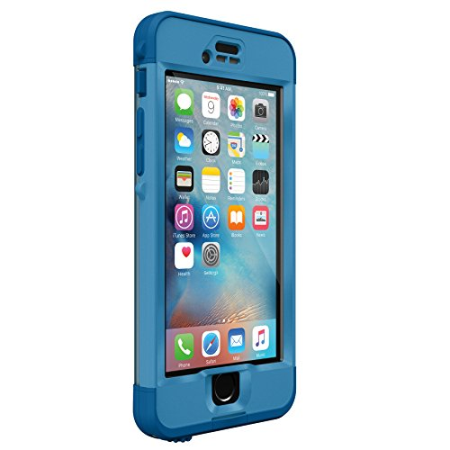 Lifeproof NÜÜD SERIES iPhone 6s ONLY Waterproof Case - Retail Packaging - CLIFF DIVE (BEACHY BLUE/CLEAR/STORMY SEAS BLUE)