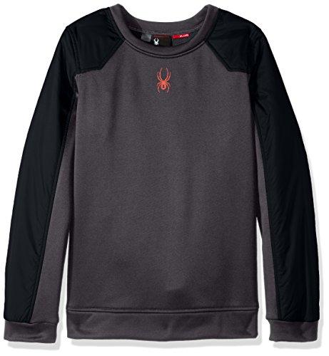 Spyder Boys Hybrid Pullover Long Sleeve Sweatshirt, Black/Polar, X-Large