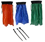 6 Pcs Set - 17.5' Wizard Magic Wands (3 Wands: Skull, Snake & Wood Nub) with 27' Magician Cape Cloaks (Pack of 3 Assorted Colors) Ideal for Halloween, Birthday Party Costume Accessory, Pretend Play