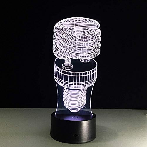 Energiespaarlamp spiraal nachtlicht 3D nachtlicht lamp 7 kleuren LED 3D nachtlicht voor kinderen Touch USB tafel nachtlicht voor LED tent showroom