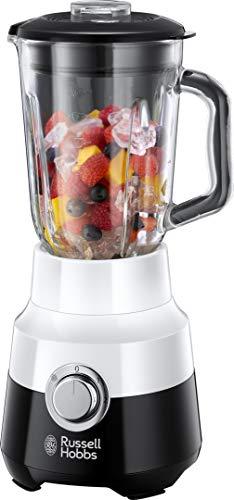 Russell Hobbs Glas-Standmixer Horizon, 22.000 U/min, 0.9 PS-Motor, Impuls-/Ice-Crush-Funktion, 1.5l Glasbehälter, Edelstahlmesser, Mixer, elektrischer Zerkleinerer, Smoothie-Maker 24721-56