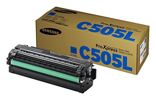 Samsung CLT-C505L/ELS Original Toner (Kompatibel mit: SL-C2620DW/C2670FW/C2680FX) cyan