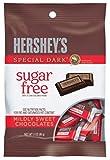 PACK OF 16 - HERSHEY'S Sugar Free SPECIAL DARK Mildly Sweet Chocolate Bars, 3 oz
