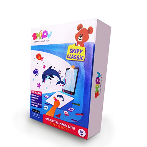 SKIPY Classic - Creative Play Kit & Educational Toy for Kids 4-10 Yrs  Drawing + Interactive Learning Activities & Games Using Mixed Reality  Unique Birthday Gift