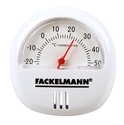 Fackelmann thermometer TECNO, thermometer voor binnen, analoge temperatuurweergave (kleur: wit), hoeveelheid: 1 stuk