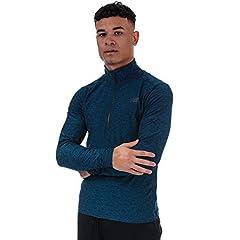 New Balance Camiseta con Cremallera Color Azul para Hombre - Core Space Dye