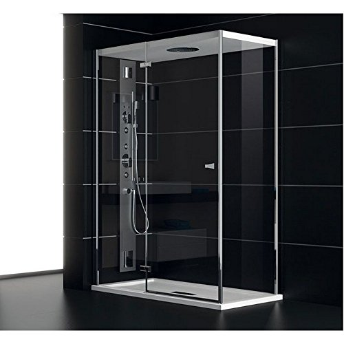 TEUCO Cabina de ducha puerta batiente 120 x 80 cm NC8B6 Chapeau