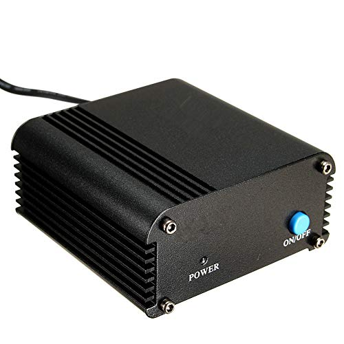 NXACETN USB 1 Kanal 48V Phantomspeisung mit Adapter Kompatibel mit Kondensatormikrofon B *EU Plug