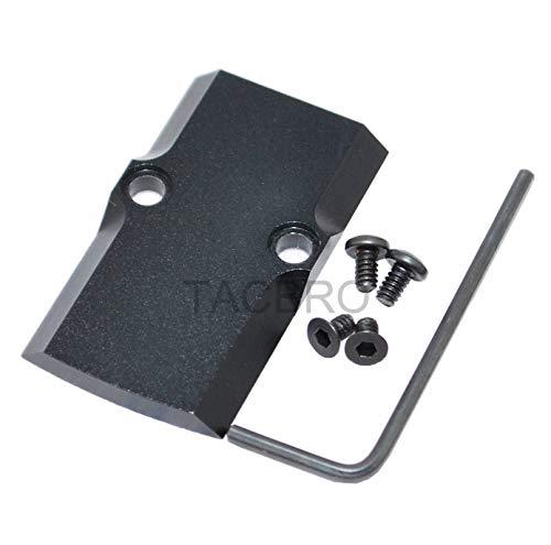 TACBRO Black Anodized Aluminum RMR Cover Plate for Glock 17 19 26 Cut Slides (GCP-Black)