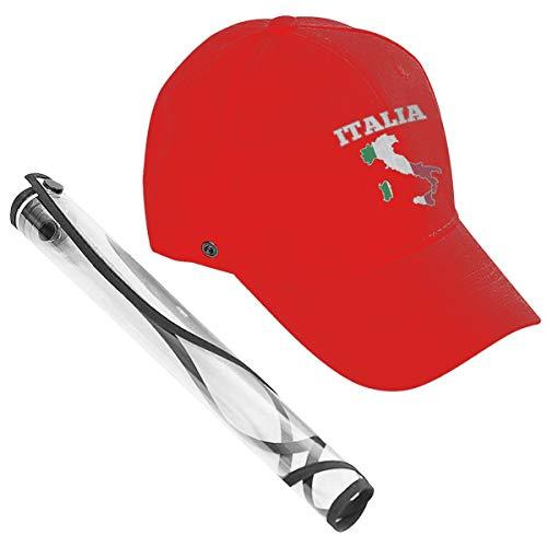 Wfispiy Mapa de Italia Bandera Tapa Protectora Protección Facial Completa Sombrero de Pescador Anti-escupir Anti-Niebla Impermeable Al Aire Libre