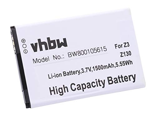 vhbw Akku 1500mAh (3.7V) für Smartphone Handy Handy Acer Liquid Z3, Liquid Z130 wie AP32 (1ICP4/40/72), KT.0010K.005, VK365072AR.