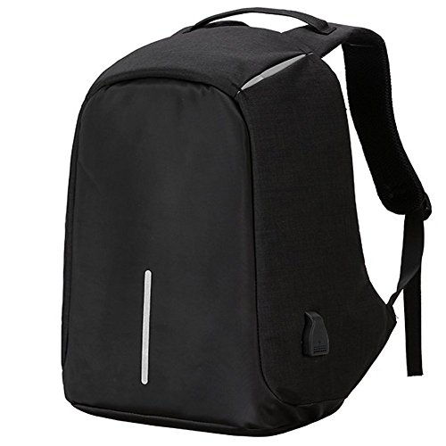 Acent Laptop Anti Theft Travel Backpack With Usb Port, Water Resistant Computer Bag, Business Backpacks For Women Men Fit Msi, Asus Vivobook, Rog Strix, Acer Aspire Notebook Black