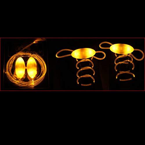 TOPCL Cordones LED luminosos para zapatos, 1 par de accesorios de juguete, brillan en la oscuridad, mejora la capacidad de manipulación con luz para fiestas, bailes, correr