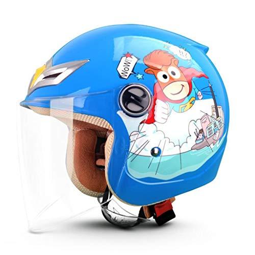 Casco eléctrico de verano moto niño casco bebé dibujos animados cuatro estaciones...