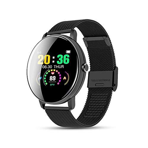 azorex Smartwatch, Sport-Armband, wasserdicht, IP67, mit Herzfrequenzmesser, Schlafüberwachung, Schrittzähler, Fitness-Tracker, Schwarz