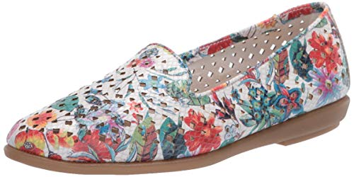 Aerosoles Women's Casual, Flat, Driving Style Loafer, Whtfloralmulti, 8
