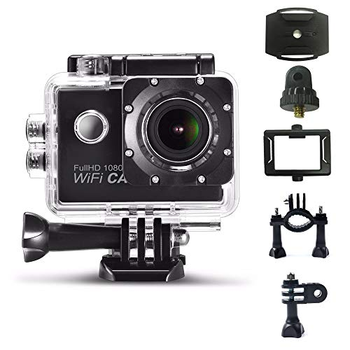Vech Sports Camera 1080P, At-G100 WiFi Sports Underwater Camera, Photography Swimming H62 Action Camera. Suitable for Extreme Sports Outdoor Diving Cycling Adventure Rock Climbing Surfing and More