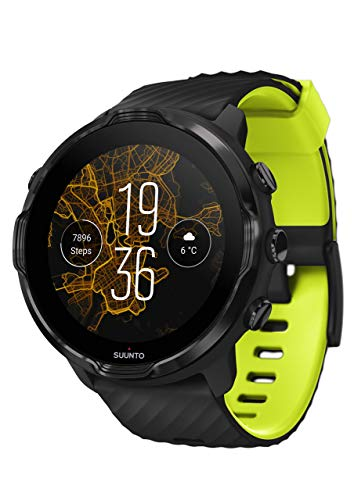 Suunto 7, GPS Sport Smartwatch with Wear OS by Google - Black/Lime (Renewed)