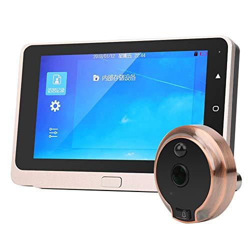Telecamera spioncino porta con schermo OLED 720P 5 '' pollici Occhio di gatto con visione notturna IR/Rilevamento movimento/Scatto automatico foto/Obiettivo grandangolare 160 °