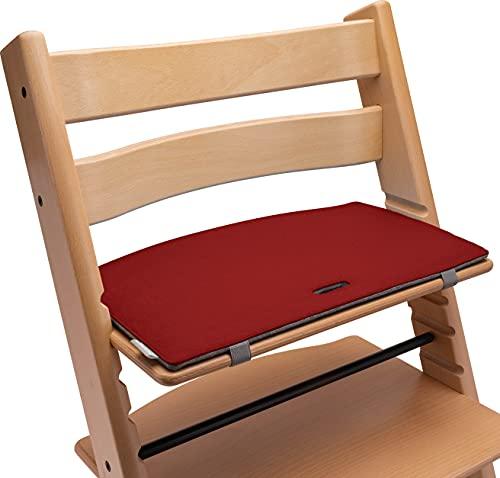 Tripp Trapp Sitzkissen: Sitzauflage für den Kinder Hochstuhl mit Kult-Faktor! Mit diesem Hochstuhl Sitzkissen aus hochwertigem Filz wird dein TrippTrapp Hochstuhl noch stylischer! (rot/grau)